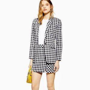 $156 TOPSHOP Gingham Blazer & Skirt Set 6 NWT